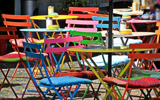 Chairs, Folding Chairs, Seat, Cafe, Gastronomy