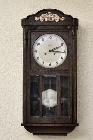 Clock, Regulator, Wall Clock, Old, Historically