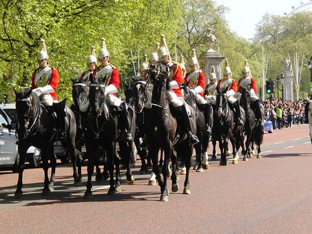 Horseguards, London, Changing Of The Guard, Horses