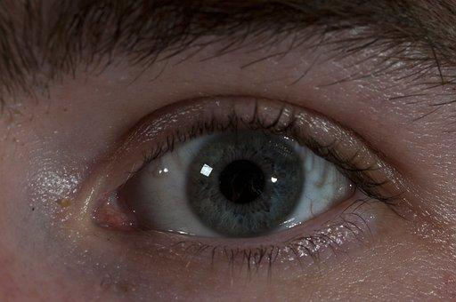 Eye, Eyeball, Close Up, Vision, Eyesight, Human, White