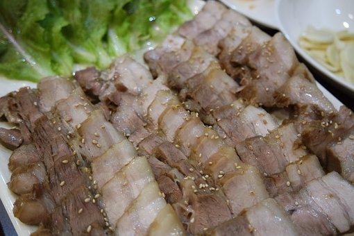 Pork, Bossam, Korean Food, Suyuk, Cooking, Dining Room