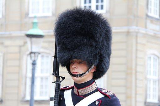 Guard, Uniform, Man, Hat, Black Fur Hat