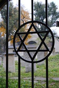 Cemetery, Jew, Memorial, Jewish Cemetery, David's Star