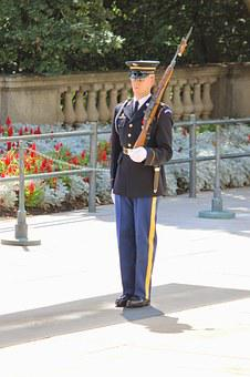Arlington, Cemetery, Guard, Change, Honor, Military