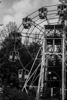 Old, Ferris Wheel, Vintage, Closed, Wheel, Park