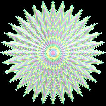 Star, Burst, Explosion, Pastel, Subtle, Pale, Colorful