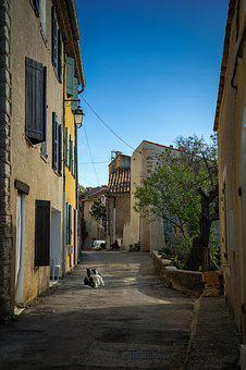 Street, Aiguines, Provence, South Of France, France