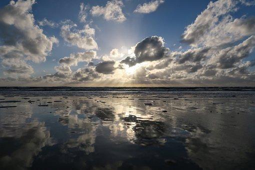 Sun, Beach, St Peter Obi, Baltic Sea, Sea, Romance