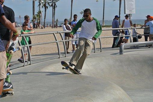 Venice Beach, Skater, Skateboard, Skateboarding