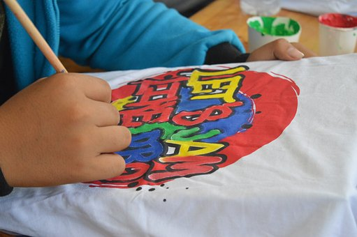 Drawing, Projam2016, T-shirt, Logo, Lettering, Paint