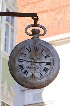 Wall Clock, Roman Numerals, Old