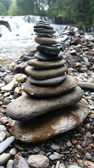 River, Stones, Tower, Weir, Water, Nature, Stone Tower