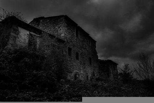 Black, Mood, Night, Viral, House, Horror, Creepy