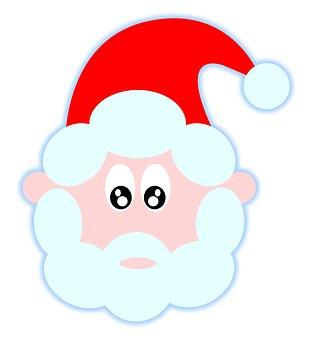 Dad, Christmas, Santo, Santa, Claus, Greetings, Red