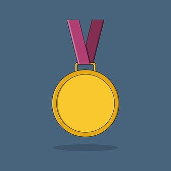 Medal, Icon, Design, Decoration, Gold, Graphics