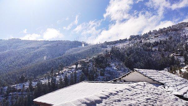Snow, Architecture, Hills, Himalayas