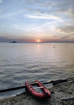 Water, Sun, Sunset, Sea, Beach, Sky, Summer, Relax