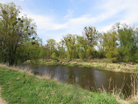 River, Landscape, Nature, Village, Water