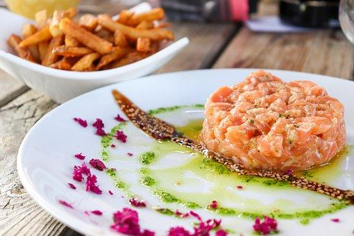 Salmon, Salmon Tartar, Food, Tartar, Plate, Restaurant