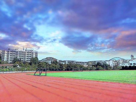 Campus, Playground, Youth, Stadium, Football Field