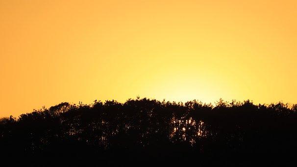Sunrise, Yellow, Nature, Landscape, Sunshine, Orange