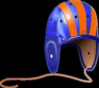 Hardhat, Helmet, Football, Gear, Leather, College