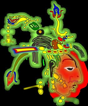 Inca, Maya, Aztec, Indian, Painting, Mask, Tribal, Face