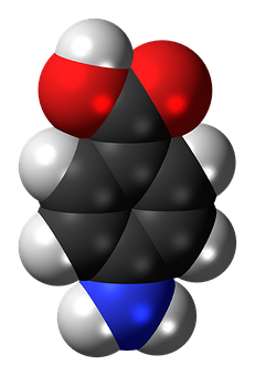 Aminobenzoic Acid, Molecule, Chemistry, Atoms, Model