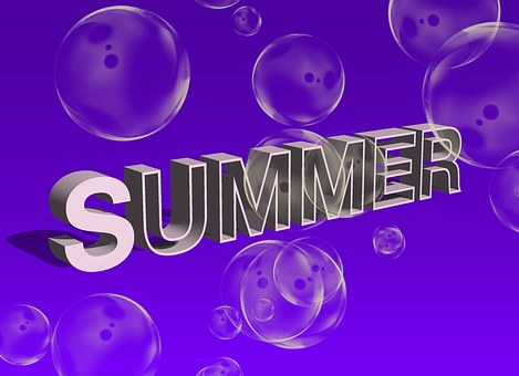 Summer, Soap Bubbles, Air, Nature, Leisure, Shield