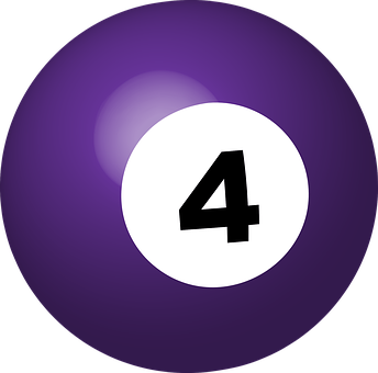 Pool Ball, Number 4, Sphere, Ball, Game, Billiard, 3d