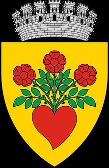 Coat Arms, Emblem, Town, Romania
