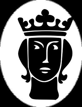 Silhouette, King, Portrait, Black, Crown