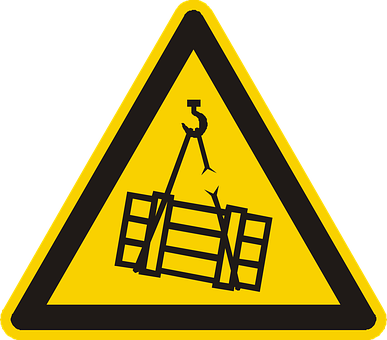Suspended Load, Warning, Attention, Yellow, Sign