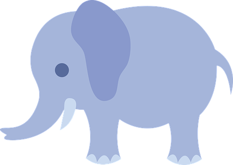 Blue, Elephants, Baby, Animals, Mammals, Young, Small