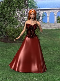 Woman, Dress, Fashion, Clothing, Femininity, Red