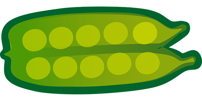 Green, Peas, Pods, Open, Legumes, Lentils, Vegetables