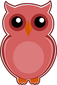 Owl, Pink, Bird, Cute, Animal, Nature, Sweet, Happy