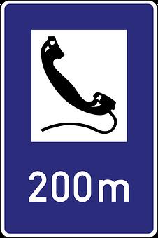 Emergency Telephone, Road Sign, Symbol, Traffic