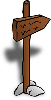 Sign, Post, Board, Wooden, Stick, Fixed, Ground, Stones