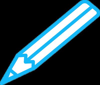 Pen, Blue, Pencil, Write, Draft, Author