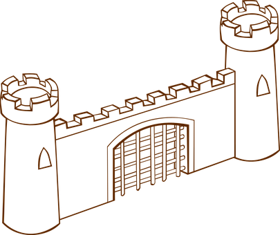 Gate, Tower, Castle, Wall, Protection, Surrounded