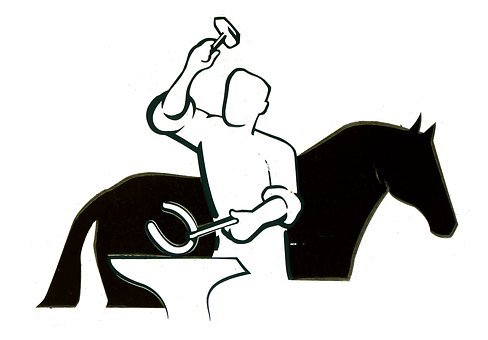 Schmid, Shoeing, Horseshoe, Horse, Silhouette, Graphic