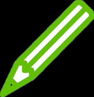 Pen, Green, Pencil, Write, Draft, Author