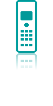 Icon, Phone, Fixed, Button, Screen, Call, Turquoise