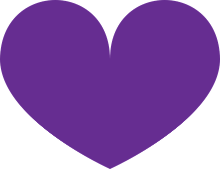 Purple, Heart, Love, Shapes, Romantic, Romance, Symbol
