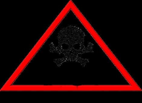 E-coli Hazard, E-coli, Warning, Skull, Sick, Ill