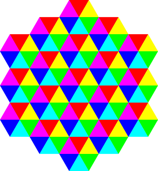 Colors, Tessellation, Triangles