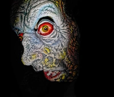 Zombie, Halloween, Scary, Mask, Face