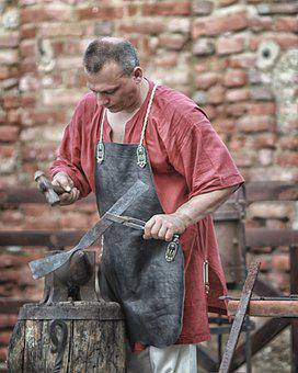 Smith, Anvil, Hammer, Forge, Work, Metal, Handicraft