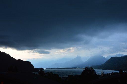 Forward, Lake Wolfgang, Lake, Weather, Clouds